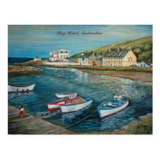 Bay Hotel Cushendun oil painting by Joanne Casey - Postcard