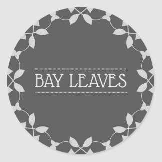 Bay Leaves Spice Jar Stickers