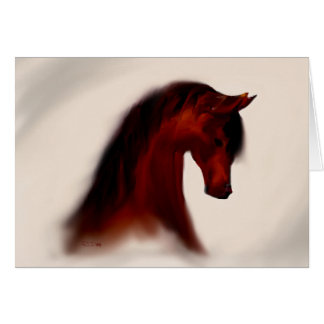 """Bay Mare"" ~ Greeting Card (blank)"