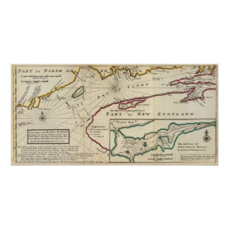 Bay of Fundy and harbour of Annapolis Royal Poster