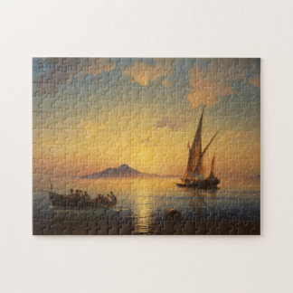 Bay of Naples Ivan Aivazovsky seascape waterscape Jigsaw Puzzle