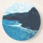 Bay On The Road To Hana Maui Abstract Coaster