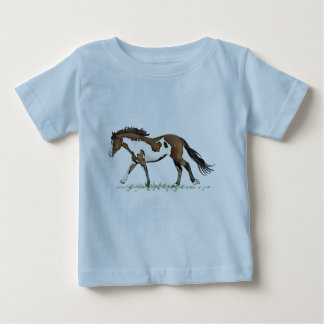 Bay Paint Horse Cantering T-shirt