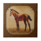 Bay Quarter Horse Foal Tile