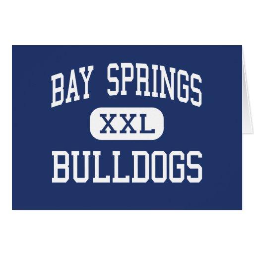 Bay Springs Bulldogs Middle Bay Springs Greeting Card