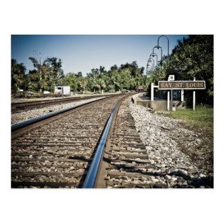 Bay St Louis Railroad Postcard