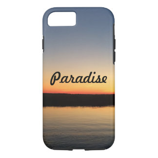 Bay sunset paradise phone case