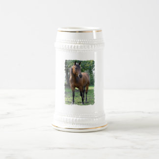 Bay Thoroughbred Horse Beer Stein