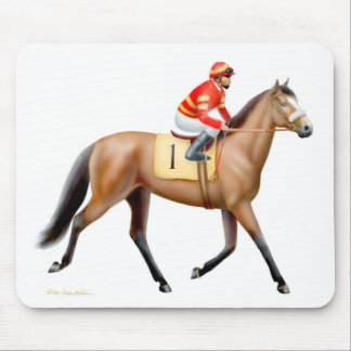 Bay Thoroughbred Race Horse Mousepad