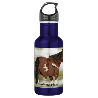 Bay Tobiano Paint Horse 532 Ml Water Bottle