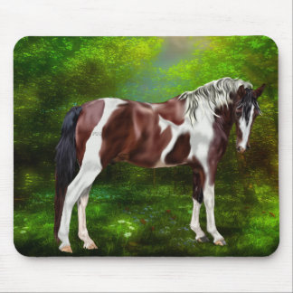 Bay Tobiano Paint Horse Mouse Pad