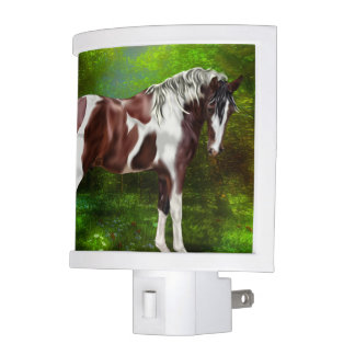 Bay Tobiano Paint Horse Night Lights