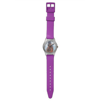 "Bay Winter Horse ""Year of the Horse"" Equine photo Wristwatch"