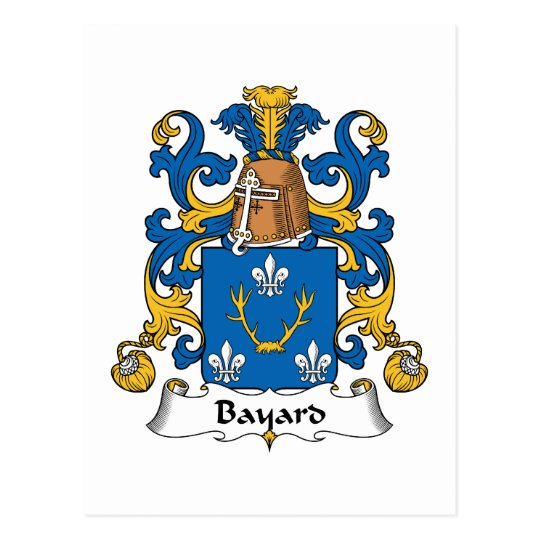 Bayard Family Crest Postcard