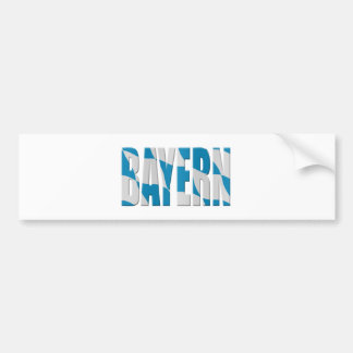Bayern (Bavaria) flag(ge) Bumper Sticker