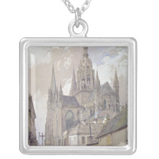Bayeux Cathedral, View from the South East Silver Plated Necklace