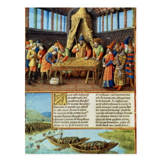 Bayezid I receiving the ransom Postcard