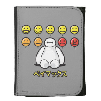 Baymax Emojicons Leather Trifold Wallets