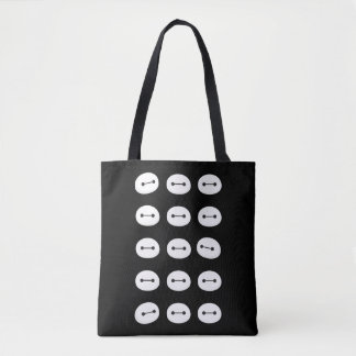Baymax Face Pattern Tote Bag