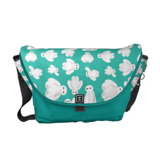 Baymax Green Classic Pattern Messenger Bag