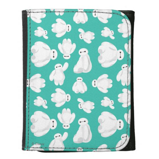 Baymax Green Classic Pattern Leather Wallets