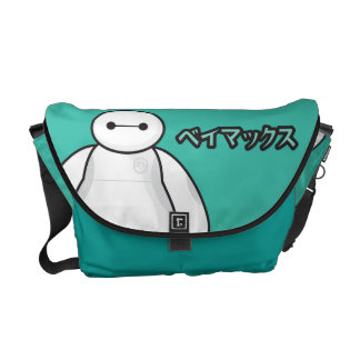 Baymax Green Graphic Messenger Bags