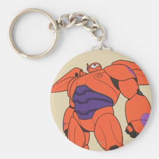 Baymax Orange Suit Basic Round Button Keychain