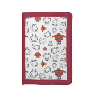 Baymax Suit Pattern Trifold Wallets