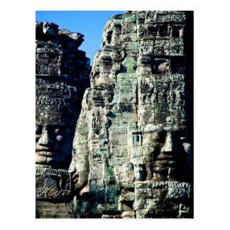 Bayon Temple in Angkor Cambodia two faces Postcard