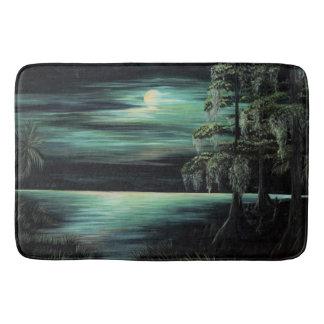 Bayou by moonlight bath mat
