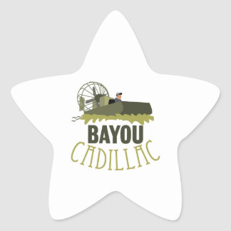 Bayou Cadillac Star Sticker