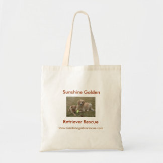 Bayou, Sunshine Golden Retriever Rescue Tote Bag