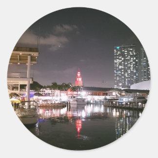 Bayside Market place Miami Round Sticker