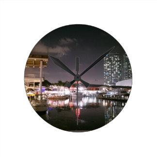 Bayside Market place Miami Wall Clock