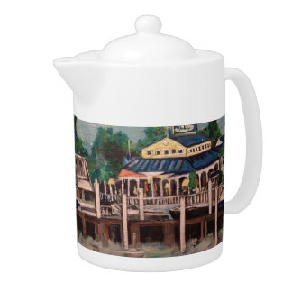 Bayview Avenue, Put-n-Bay, Ohio Medium Tea Pot