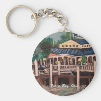Bayview Avenue, Put-n-Bay, Ohio Ornament Keychain