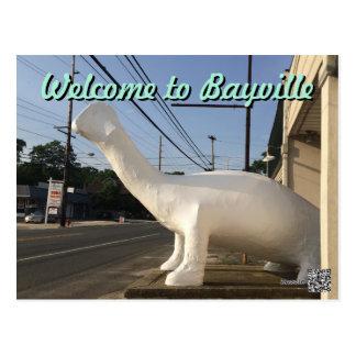 Bayville Route 9 Dinosaur Postcard