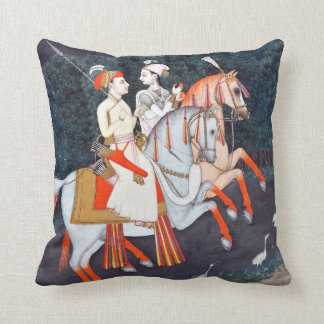 Baz Bahadur and Rani Rupmati Throw Pillow
