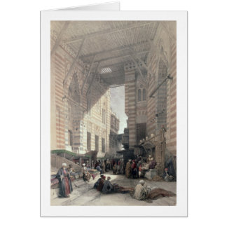 """Bazaar of the Silk Merchants, Cairo, from """"Egypt a Card"""