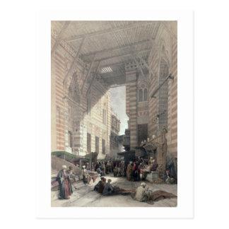 """Bazaar of the Silk Merchants, Cairo, from """"Egypt a Postcard"""