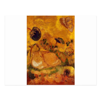 Bazon: The Artist's Cat by Odilon Redon Postcard