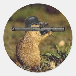 bazooka gopher round sticker