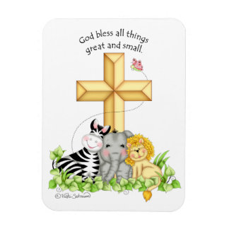 """BaZooples """"God Bless All Things..."""" Magnet"""
