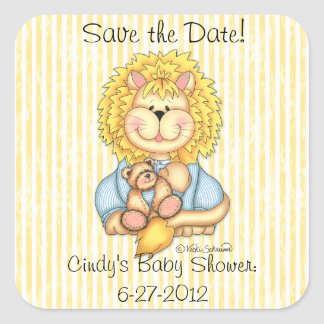 "BaZooples ""Save the Date"" Lester Sticker"