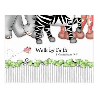 """BaZooples """"Walk by Faith"""" Postcard"""