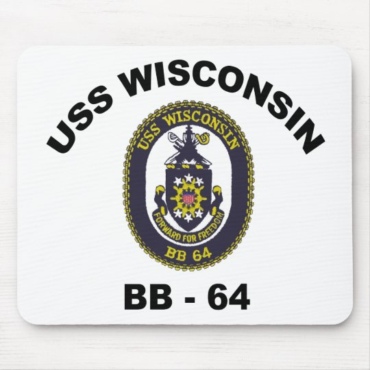 BB-64 USS Wisconsin Mouse Pad