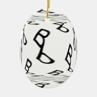 Bb ba-by text logo 2 ceramic ornament