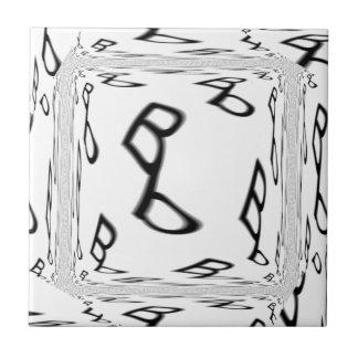 Bb ba-by text logo tile