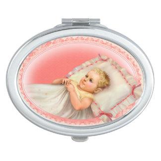 BB BABY NEW BORN CARTOON compact mirror OVAL