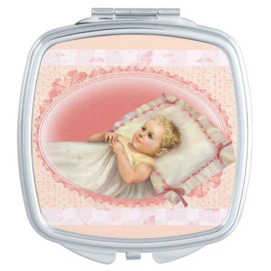 BB BABY NEW BORN CARTOON compact mirror SQUARE